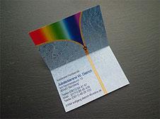 Digitaldruck-Visiten(klapp)karte